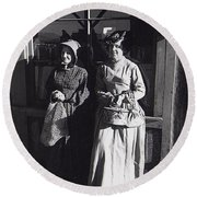 Women  Extras In Old West Costumes Dirty Dingus Magee Set Mescal Arizona 1970 Round Beach Towel
