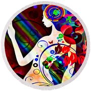 Wonder At The End Of The Rainbow Round Beach Towel