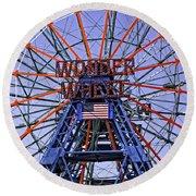 Wonder Wheel 2013 - Coney Island - Brooklyn - New York Round Beach Towel
