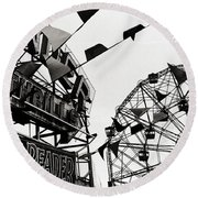 Wonder Wheel Round Beach Towel