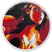 Wonder Woman - Sister Inspired Round Beach Towel