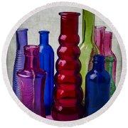 Wonderful Glass Bottles Round Beach Towel