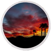 Wonderful  Sunrise Round Beach Towel