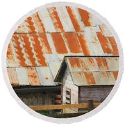 Wonderfully Weathered Round Beach Towel