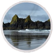 Wonders Of The Ocean Round Beach Towel
