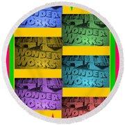 Wonderworks  Round Beach Towel