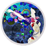 Wondrous Night Round Beach Towel by Angelina Vick