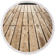 Wood And Water Round Beach Towel