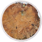 Wood Art Round Beach Towel