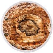 Wood Detail Round Beach Towel by Matthias Hauser