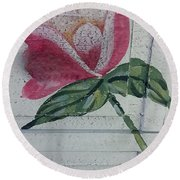 Wood Flower Round Beach Towel