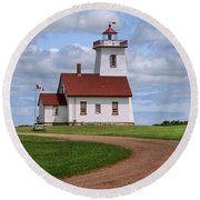 Wood Islands Lighthouse - Pei Round Beach Towel