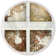 Wood Round Beach Towel by Les Cunliffe