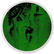 Wood Nymphs In Green Night Sight Round Beach Towel