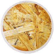 Wood Splinters Background Round Beach Towel