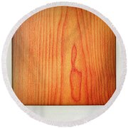 Wood Texture Round Beach Towel