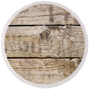 Wood Texture Round Beach Towel