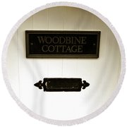 Woodbine Cottage - In Bakewell Town Peak District - England Round Beach Towel