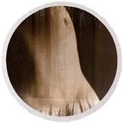 Wooded Belly Round Beach Towel