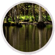 Wooded Reflection Round Beach Towel