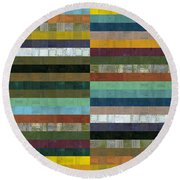 Wooden Abstract Lx Round Beach Towel