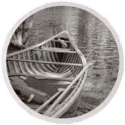 Wooden Canoe Round Beach Towel