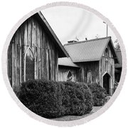 Wooden Country Church 2 Round Beach Towel
