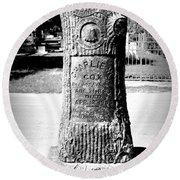 Wooden Grave Round Beach Towel