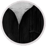 Wooden Heart Round Beach Towel