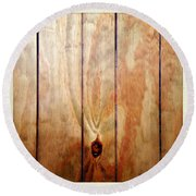Wooden Panel Round Beach Towel by Les Cunliffe