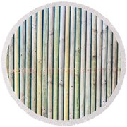 Wooden Poles Round Beach Towel