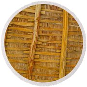 Wooden Roof Round Beach Towel