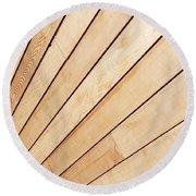 Wooden Texture Round Beach Towel
