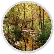 Woodland Brook  Round Beach Towel