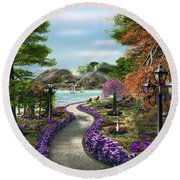 Woodland Path Round Beach Towel