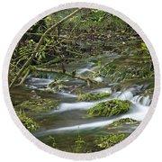 Woodland Stream - Monk's Dale Round Beach Towel