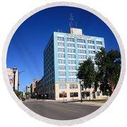 Springfield Missouri - Woodruff Building Round Beach Towel