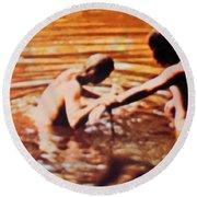 Woodstock Cover 2 Round Beach Towel