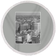 Woodward Avenue Bw Round Beach Towel