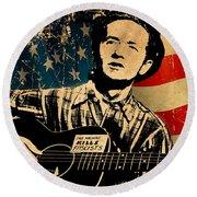 Woody Guthrie 1 Round Beach Towel