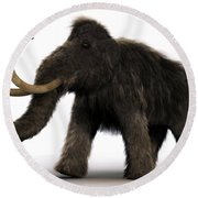 Wooly Mammoth Round Beach Towel