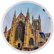 Worcester Cathedral Round Beach Towel