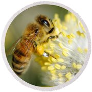 Worker Bee Round Beach Towel
