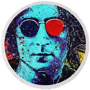 Working Class Hero II Round Beach Towel by Chris Mackie