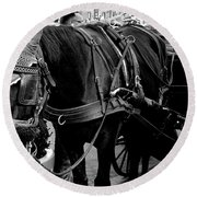 Working Horse Round Beach Towel