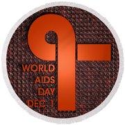 World Aids Day Round Beach Towel