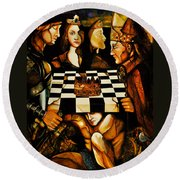 World Chess   Round Beach Towel