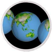 World Globes Round Beach Towel