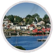 World Hertitage Designated Town On Round Beach Towel