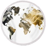 World Map Sandy World Round Beach Towel